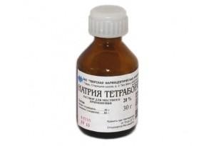 Тетраборат натрия от молочницы - инструкция по применению