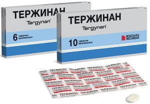 Лечение молочницы тержинаном